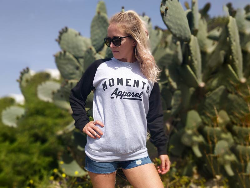 Momento Long Sleeve Sweater front Galway