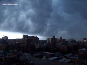 Raging clouds
