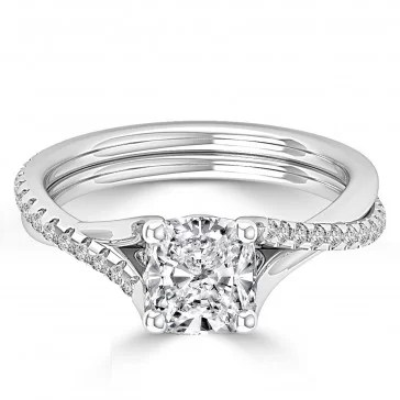 Cushion Duo Affordable engagement rings