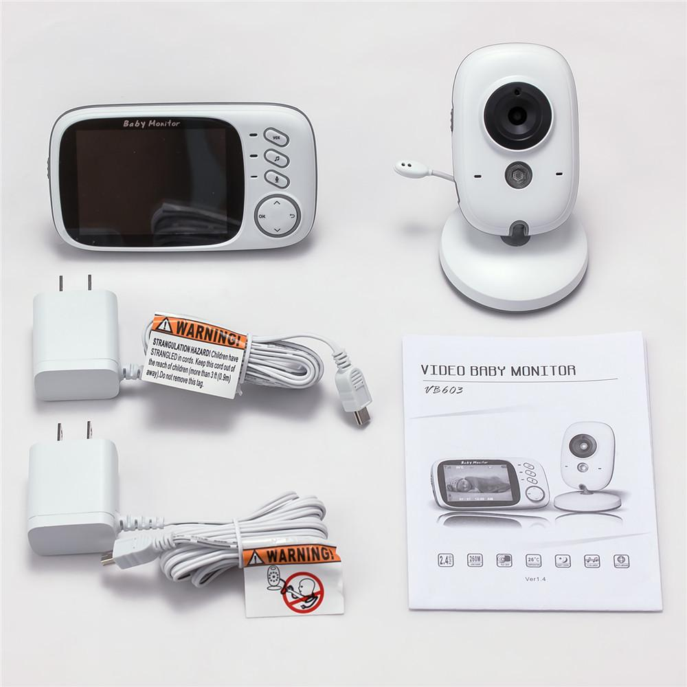 Night Vision 2-Way Video Baby Monitor with Lullabies Delivery Scope