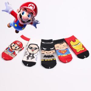 Cartoon Superhero Baby Socks