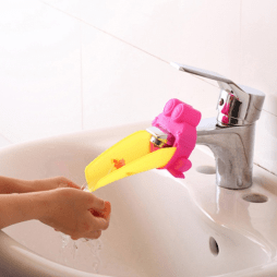 2 Baby Faucet Extenders with Spinning Wheel - Makes Washing Hands Fun
