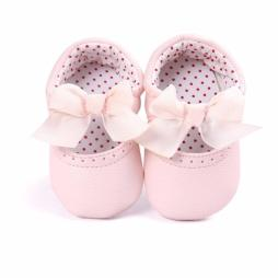 Baby  Girls Soft  Bowknot Crib Shoes