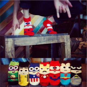 Children Cartoon Superheroes Socks