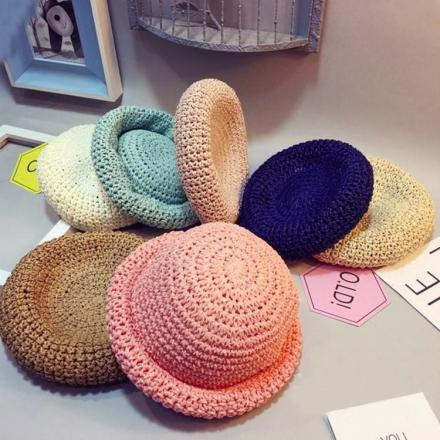 Colorful Baby Straw Hat