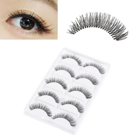 False Eyelashes - High Quality Synthetic Fiber - Value Pack