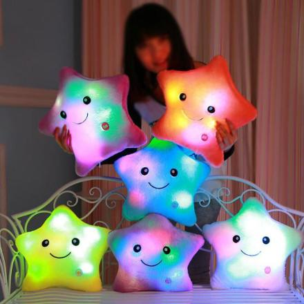 Color Changing LED Star Pillow for Children & Babies