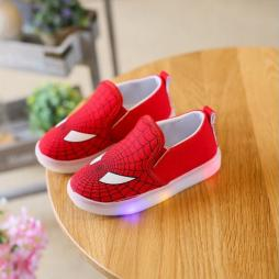 Children LED Superhero Shoes with Flashing Lights (Sizes 5.5-11.5)