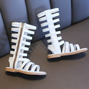 Baby Girl High Top Roman Gladiator Sandals
