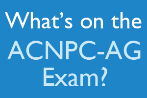 What's on the ACNPC-AG Exam?