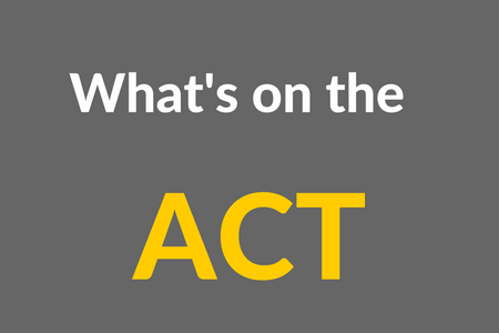What's on the ACT