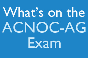 What's on the ACNOC-AG Exam?
