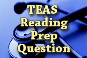 TEAS Reading Prep Question