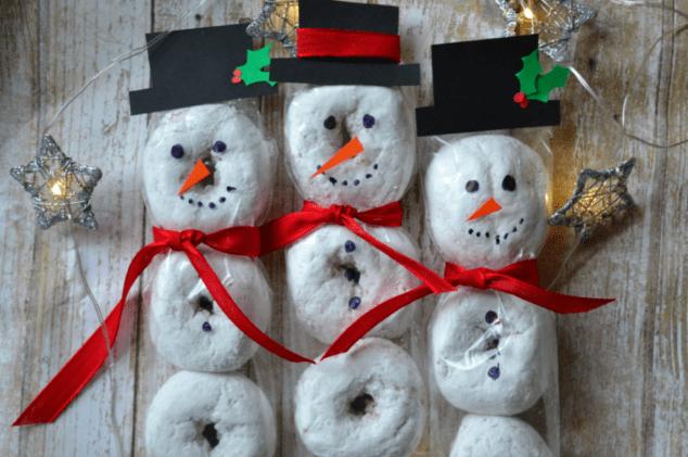 Snowmen Donut Treats