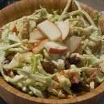 Healthy recipes for picnic food: coleslaw and pesto pasta