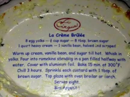 "Crème brûlée recipe from ""Le Cirque"""