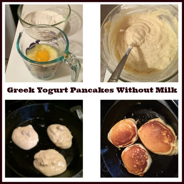 Greek Yogurt Pancakes Without Milk
