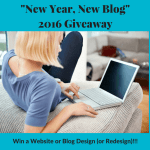 New Year, New Blog <br> (Win a Website or Blog Design!)