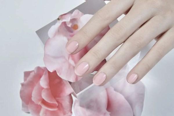 summer nail colors - Blush: a soft, sheer pink