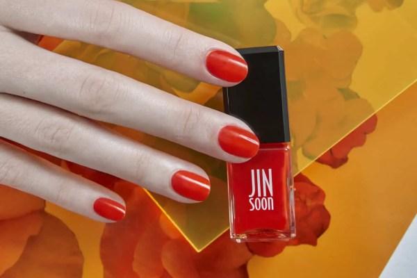 hot summer nail color - Crush: a sheer orange