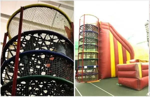 Villa Roma Resort Activities - Spider climb to big slide
