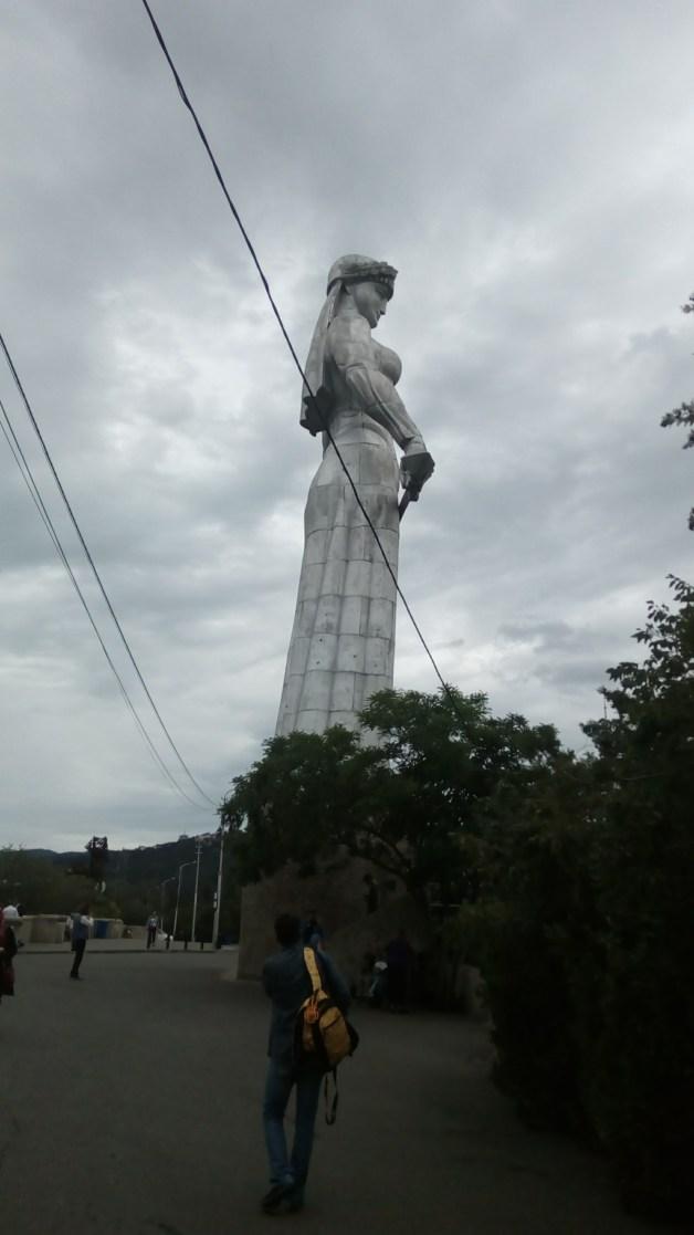 The huge statue of Kartlis Deda