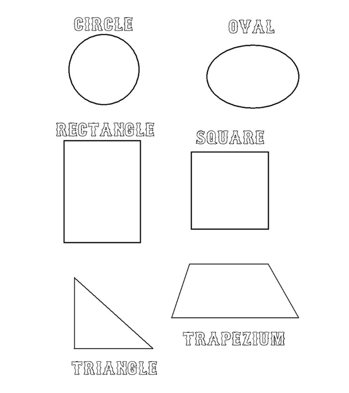 Coloring Shapes Pages