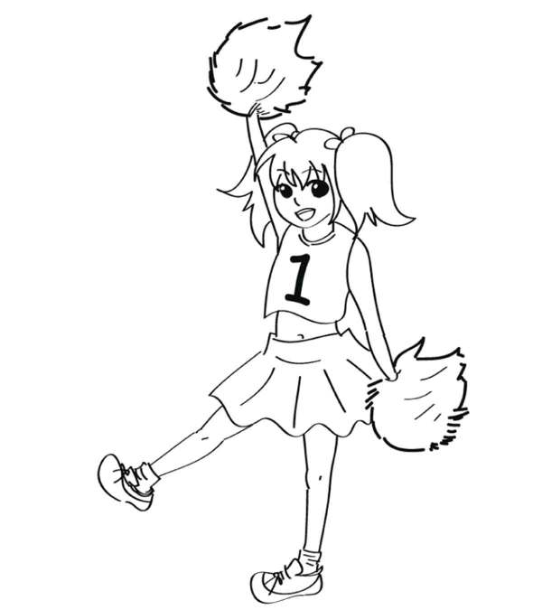 cheer coloring pages # 12