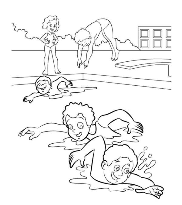 free coloring pages froggy learns to swim # 11