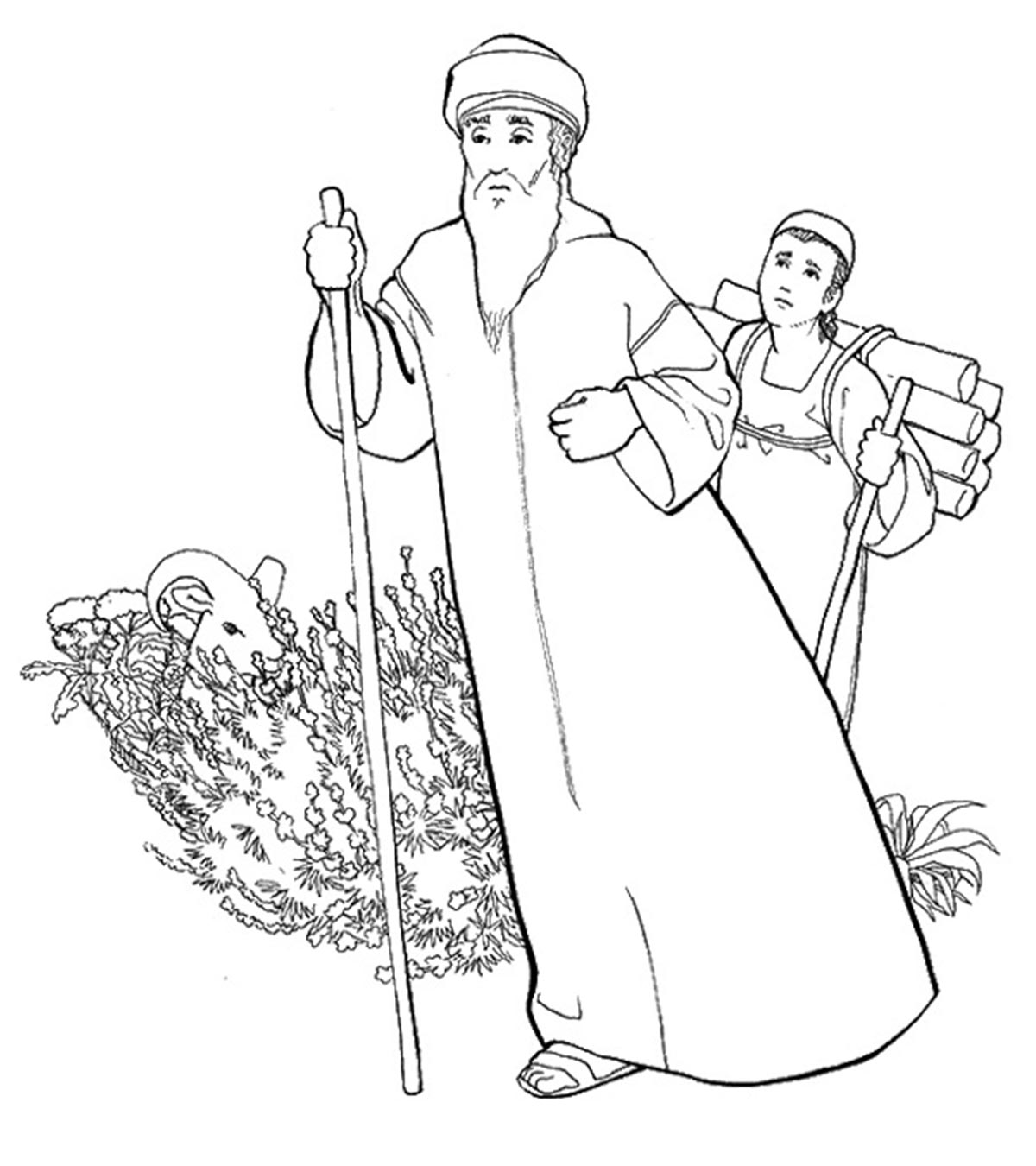 The Best Abraham And The Three Visitors Coloring Pages