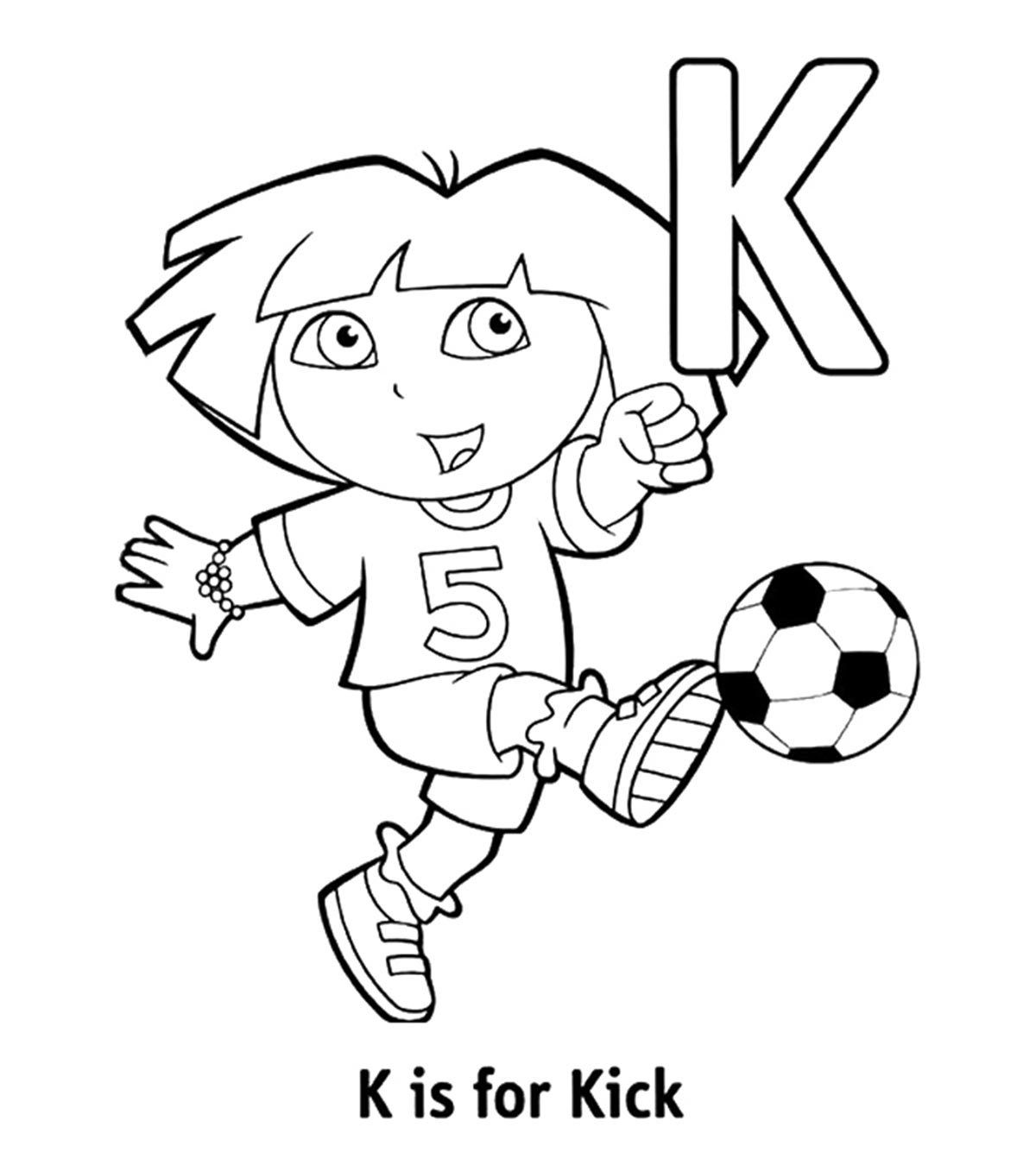 Luxury Letter K Coloring Pages For Preschoolers