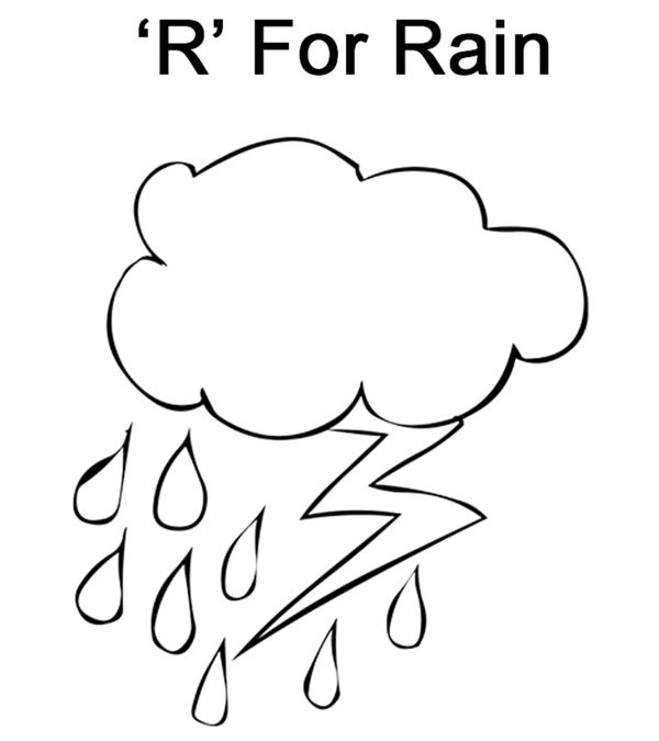 letter r coloring page # 19