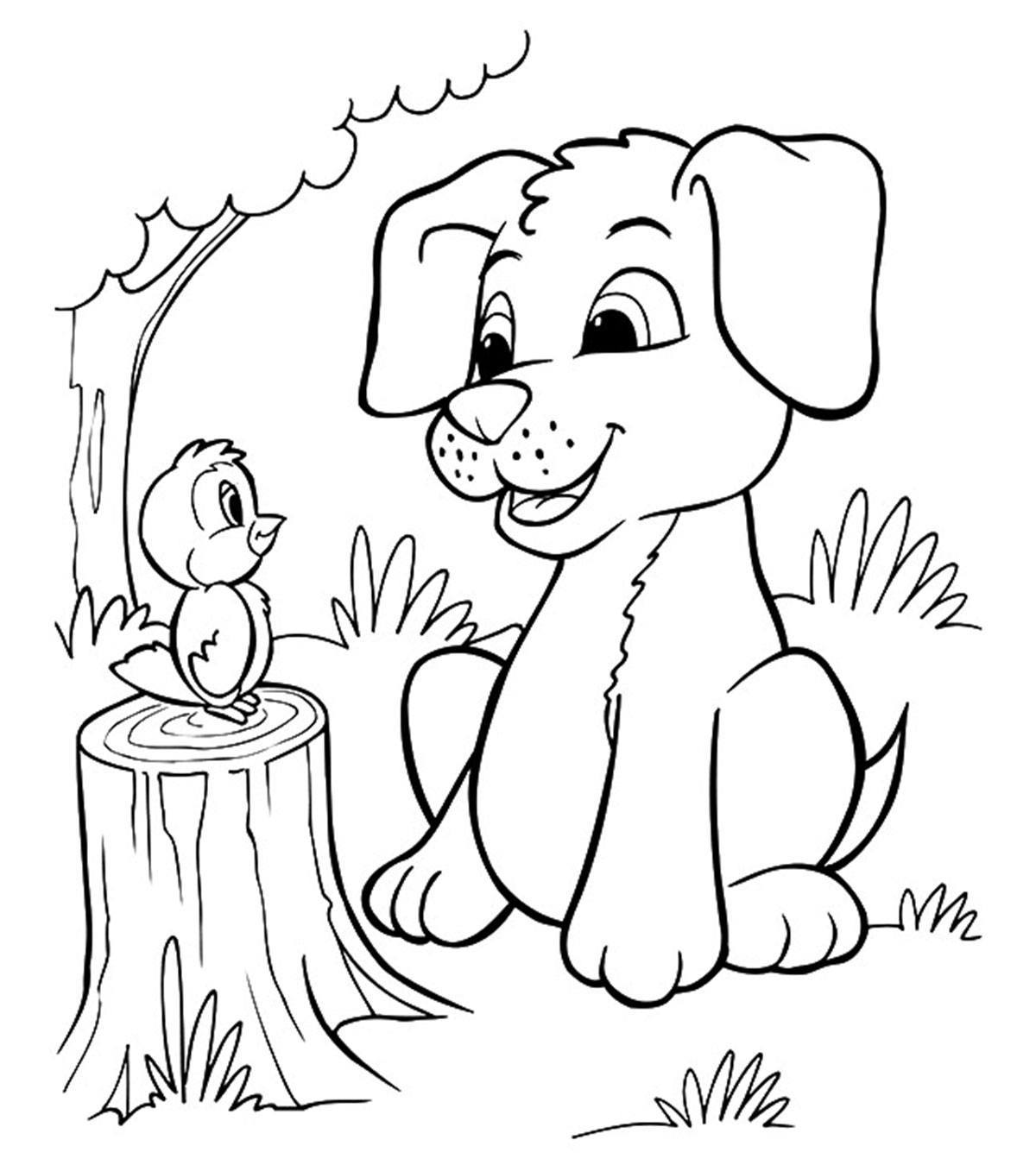 Gratifying Printable Puppy Coloring Pages