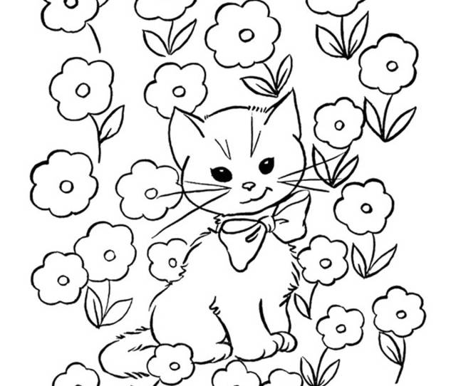 Top  Free Printable Cat Coloring Pages For Kids