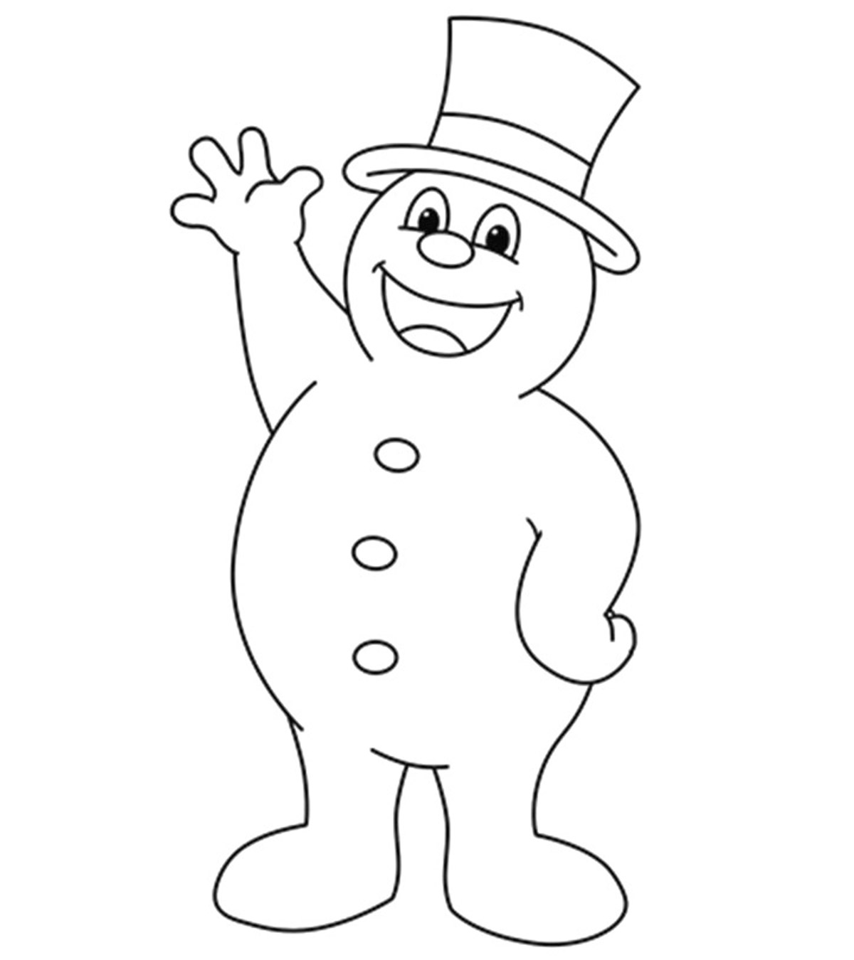 Images Of Snowman Coloring
