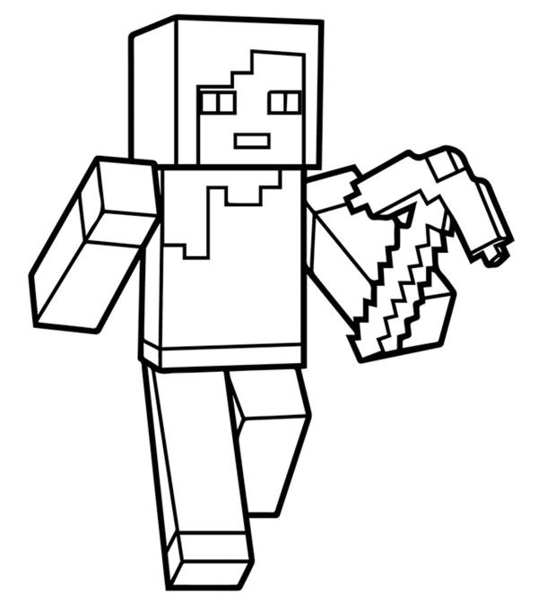 minecraft coloring pages to print # 16