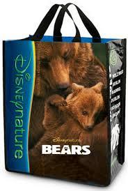 free disneynature bears reusable tote bag