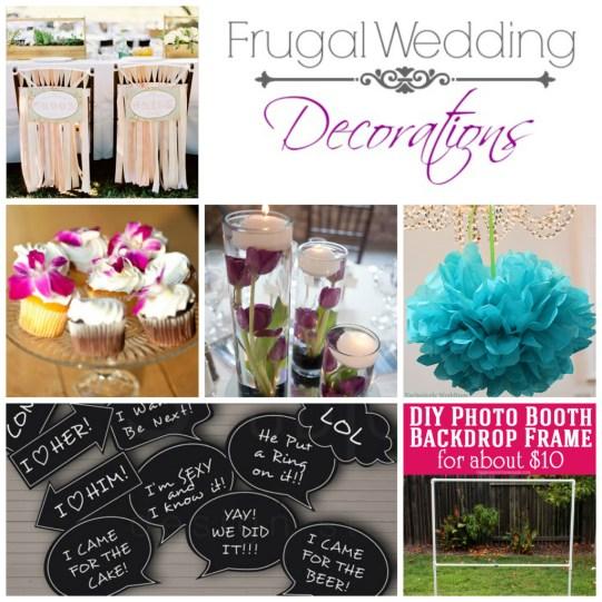 frugal wedding decorations