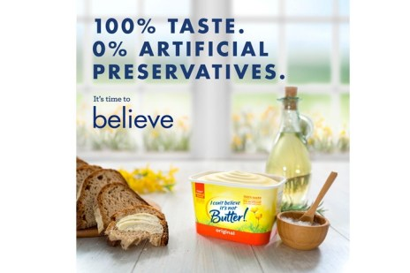 free I can't believe it's not butter