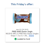 Kroger Freebie Friday: Free Mars Easter Single Chocolate