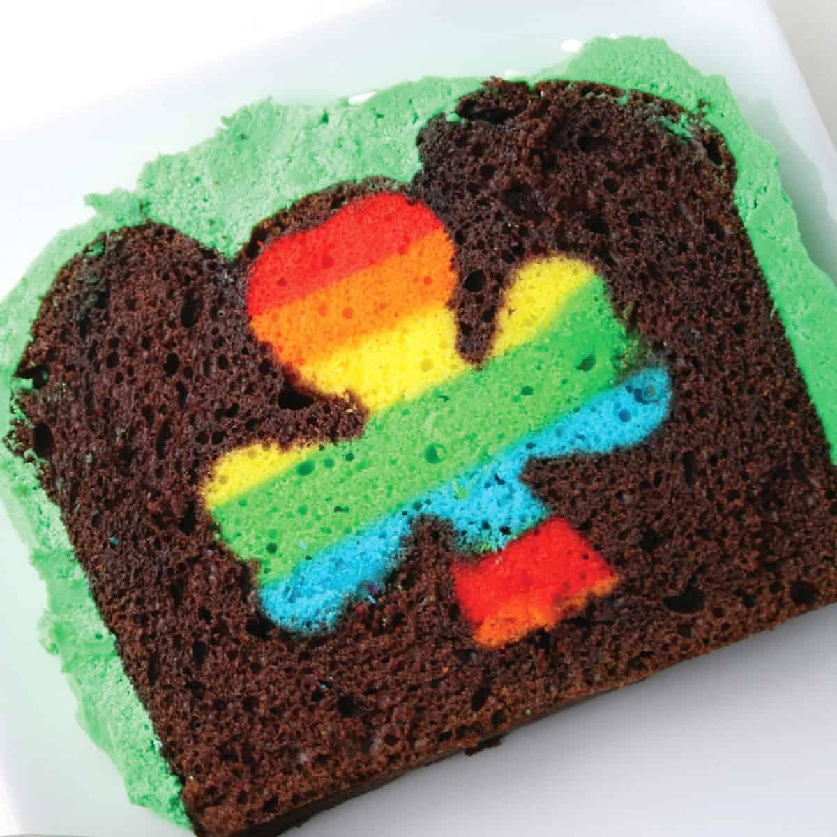 Peek A Boo St Patrick S Day Cake Mom Loves Baking