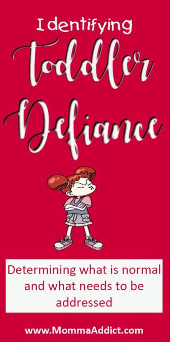 Dr. Momma discusses the need to determine if a toddler's behavior is normal or if it is defiance
