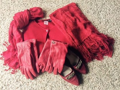 Dr. Momma reclaims the RED items in her wardrobe.