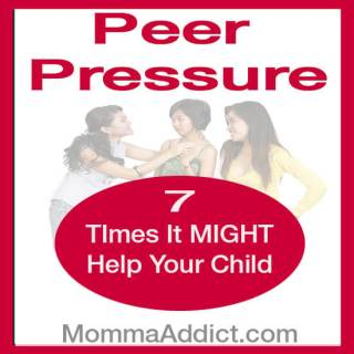 Momma Addict discusses several common events during childhood where kids might have difficulty advancing to the next phase. Peer pressure may be helpful.