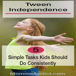Dr. Momma discusses tween independence and highlights the need for tweens to perform simple tasks on a daily basis without assistance from parents.