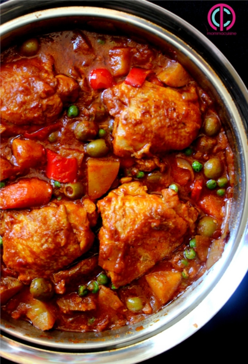 Chicken Afritada Spanish Style Chicken Stew Recipes
