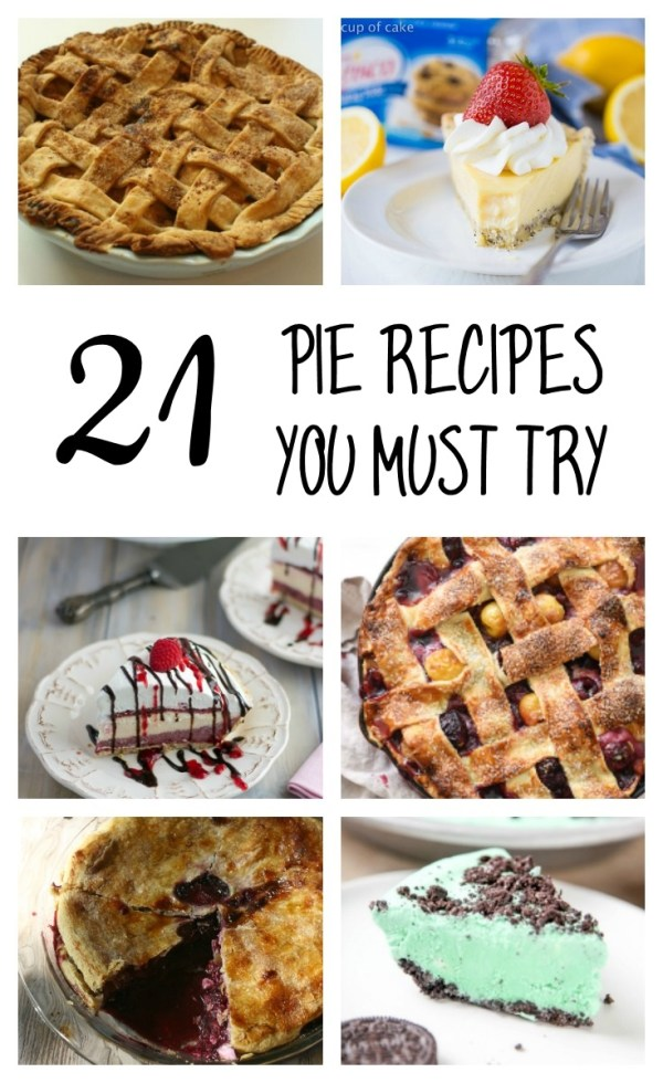 20+ Pie Recipes You Must Try