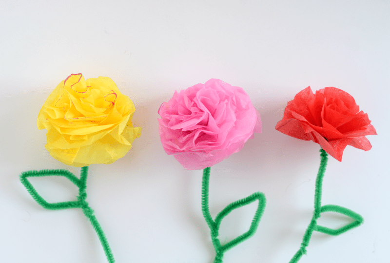 Diy tissue paper flowers momma lew tissue paper flowers 3 mightylinksfo