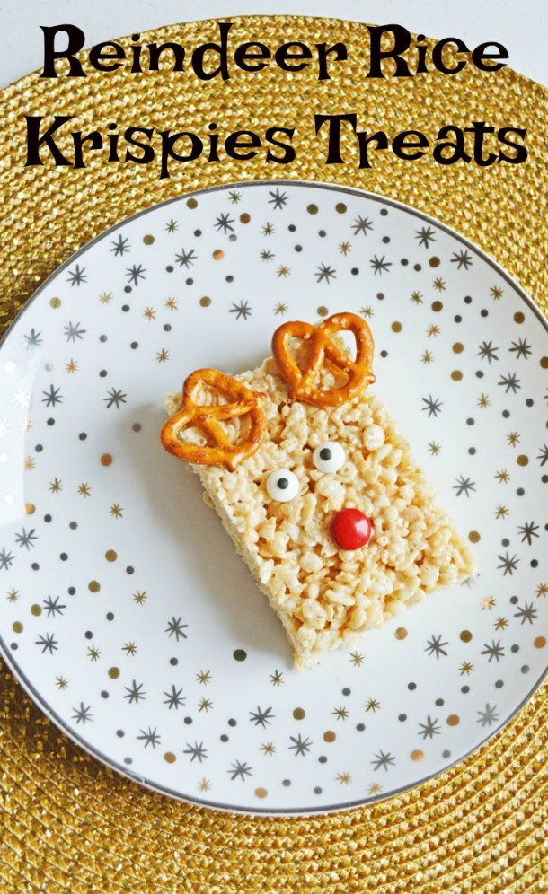 Reindeer Rice Krispies Treats - Momma Lew