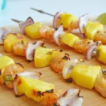 Chili Lime Shrimp Pineapple Skewers
